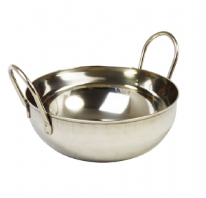 Stainless Steel Balti Dish 20cm | Buy Online at The Asian Cookshop.